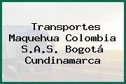 Transportes Maquehua Colombia S.A.S. Bogotá Cundinamarca