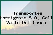 Transportes Martigonza S.A. Cali Valle Del Cauca