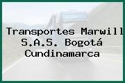 Transportes Marwill S.A.S. Bogotá Cundinamarca