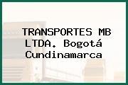 TRANSPORTES MB LTDA. Bogotá Cundinamarca