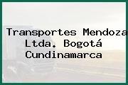 Transportes Mendoza Ltda. Bogotá Cundinamarca