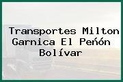 Transportes Milton Garnica El Peñón Bolívar