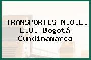 TRANSPORTES M.O.L. E.U. Bogotá Cundinamarca