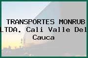 TRANSPORTES MONRUB LTDA. Cali Valle Del Cauca
