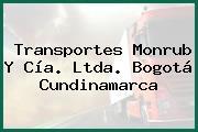 Transportes Monrub Y Cía. Ltda. Bogotá Cundinamarca