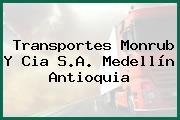 Transportes Monrub Y Cia S.A. Medellín Antioquia