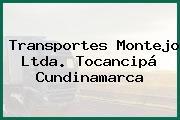 Transportes Montejo Ltda. Tocancipá Cundinamarca