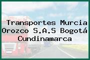 Transportes Murcia Orozco S.A.S Bogotá Cundinamarca