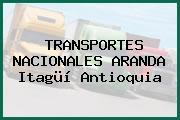 TRANSPORTES NACIONALES ARANDA Itagüí Antioquia