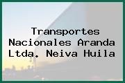 Transportes Nacionales Aranda Ltda. Neiva Huila