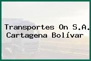 Transportes On S.A. Cartagena Bolívar