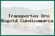 Transportes Oro Bogotá Cundinamarca