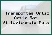 Transportes Ortiz Ortiz Sas Villavicencio Meta
