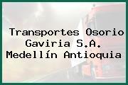 Transportes Osorio Gaviria S.A. Medellín Antioquia