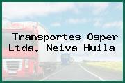 Transportes Osper Ltda. Neiva Huila