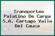 Transportes Palatino De Carga S.A. Cartago Valle Del Cauca