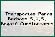 Transportes Parra Barbosa S.A.S. Bogotá Cundinamarca
