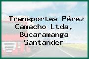 Transportes Pérez Camacho Ltda. Bucaramanga Santander
