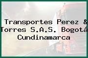 Transportes Perez & Torres S.A.S. Bogotá Cundinamarca