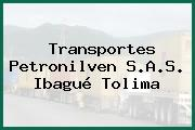 Transportes Petronilven S.A.S. Ibagué Tolima