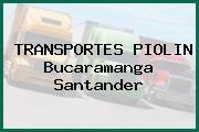 TRANSPORTES PIOLIN Bucaramanga Santander