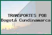 TRANSPORTES POB Bogotá Cundinamarca