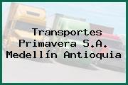 Transportes Primavera S.A. Medellín Antioquia