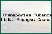 Transportes Pubenza Ltda. Popayán Cauca