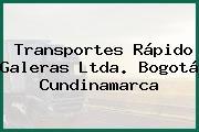Transportes Rápido Galeras Ltda. Bogotá Cundinamarca