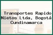 Transportes Rapido Nietos Ltda. Bogotá Cundinamarca