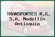 TRANSPORTES R.G. S.A. Medellín Antioquia