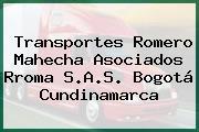 Transportes Romero Mahecha Asociados Rroma S.A.S. Bogotá Cundinamarca