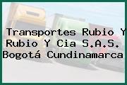 Transportes Rubio Y Rubio Y Cia S.A.S. Bogotá Cundinamarca