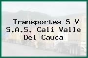 Transportes S V S.A.S. Cali Valle Del Cauca