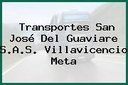Transportes San José Del Guaviare S.A.S. Villavicencio Meta