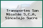 Transportes San Nicolás S.C.A. Sincelejo Sucre