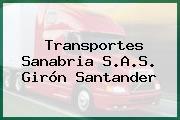 Transportes Sanabria S.A.S. Girón Santander