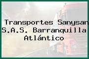 Transportes Sanysan S.A.S. Barranquilla Atlántico