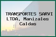 TRANSPORTES SARVI LTDA. Manizales Caldas