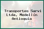 Transportes Sarvi Ltda. Medellín Antioquia