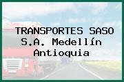 TRANSPORTES SASO S.A. Medellín Antioquia