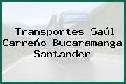 Transportes Saúl Carreño Bucaramanga Santander