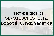 TRANSPORTES SERVICOCHES S.A. Bogotá Cundinamarca