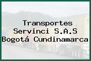 Transportes Servinci S.A.S Bogotá Cundinamarca