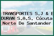TRANSPORTES S.J & E DURAN S.A.S. Cúcuta Norte De Santander