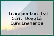 Transportes Tvl S.A. Bogotá Cundinamarca