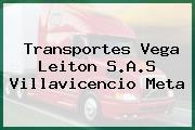 Transportes Vega Leiton S.A.S Villavicencio Meta