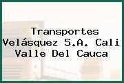 Transportes Velásquez S.A. Cali Valle Del Cauca