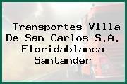 Transportes Villa De San Carlos S.A. Floridablanca Santander