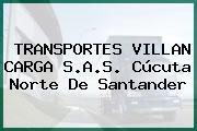 TRANSPORTES VILLAN CARGA S.A.S. Cúcuta Norte De Santander